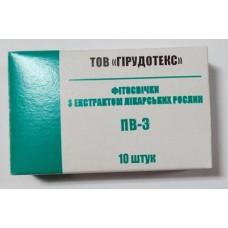 Свечи ПВ-3 с мумие (10 шт)
