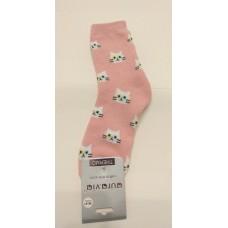 """Носки женские AURA """"Кошки"""" розовые"""